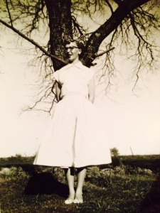 Betty, Easter, 1954